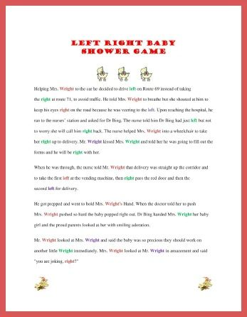 left right game ideas pinterest we babies and baby shower games