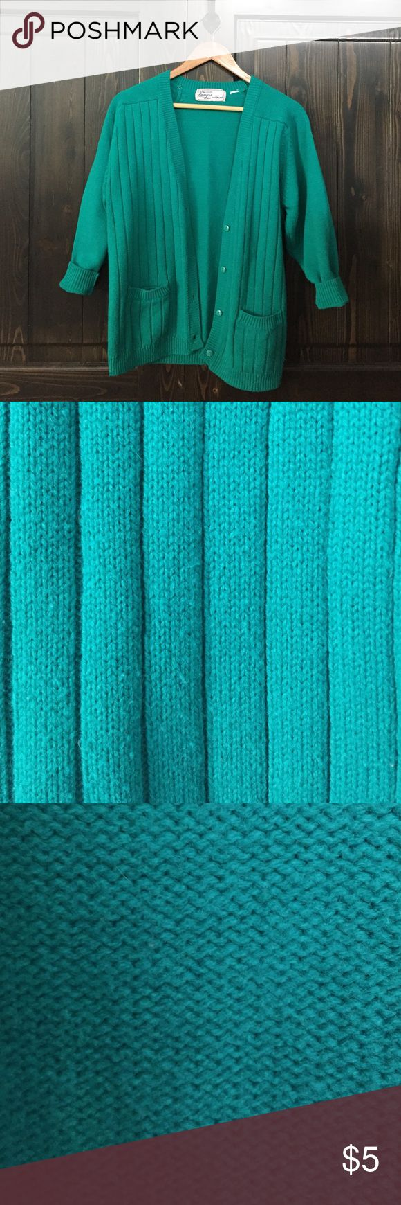 Cozy Turquoise Cardigan Cozy turquoise cardigan perfect for layering Sweaters Cardigans