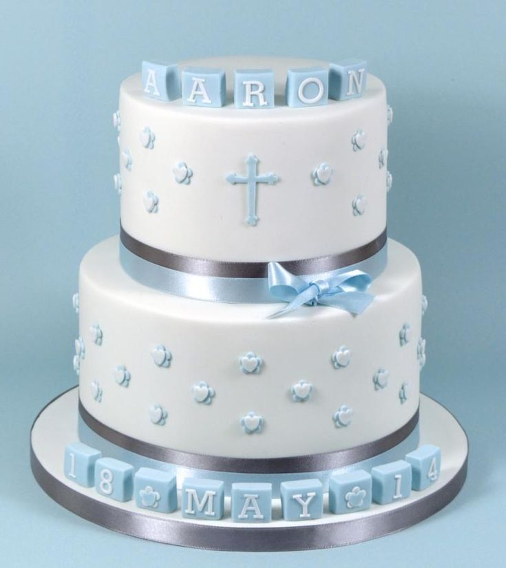 Baby Boy Christening/Baptism Cake - Cake by Fancy Cakes by Linda