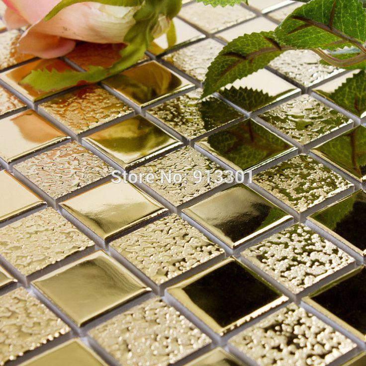 Cheap Cerámica vidriada azulejos de mosaico de porcelana dorado cocina salpicaduras barato HD 062 espejo del baño azulejo backsplash 3d azulejos de piso, Compro Calidad Mosaicos directamente de los surtidores de China:   Debido a la política de envío especial, todos nuestros productos se  no puede  enviado a  Brasil y ruso     .   Por fa