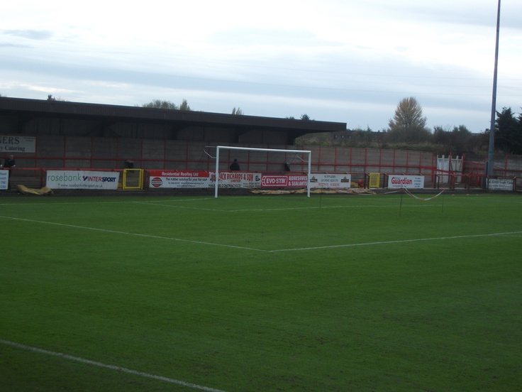 Wincham Park ahead of Witton Albion v Barrow's FA Cup 4th Round Qualifying match (2011)