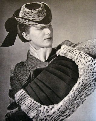 Hat and bag-muff by Otto Lucas, 1941