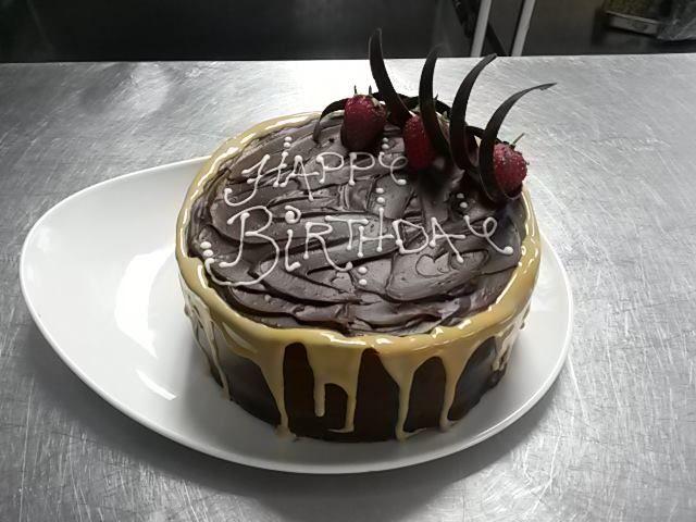 Caramel Chocolate Birthday Cake