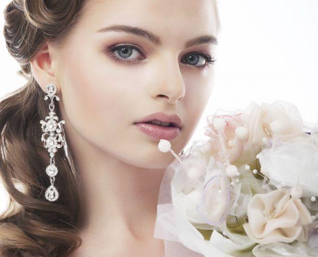 Спокойный свадебный макияж для голубых глаз ::: onelady.ru ::: #makeup #eyes #eyemakeup