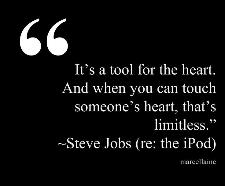 It's A Tool For The Heart. And When You Can Touch Someone