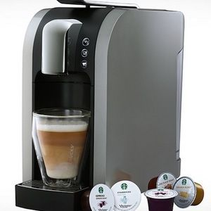 The Starbucks Verismo 580 Brewer ($200) is brand new! It's the first ever single serve latte machine with real milk.
