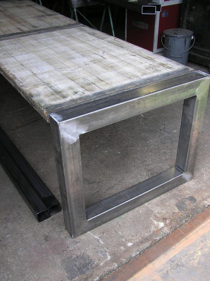 Buitentafel - robuust frame met betonschotten  - Smederij Hissink