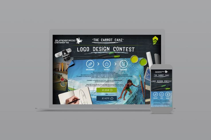 Bic Surf • Webdesign • Site internet • Surf • Carrot Cake
