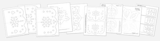 9 stylish papel picado template patterns to make and display! #papelpicado https://happythought.co.uk/product/day-of-the-dead-craft-activity