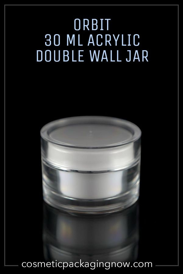 Clear Outer Walls, White Inner Closure & Cup Shiny Silver Band on Closure Lip Capacity 1 OZ or 30 ML Dimensions (W X H) 63 MM X 44 MM