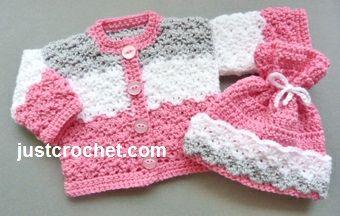 Libre de las muñecas del bebé del ganchillo patrón de la capa y el sombrero de EE.UU.