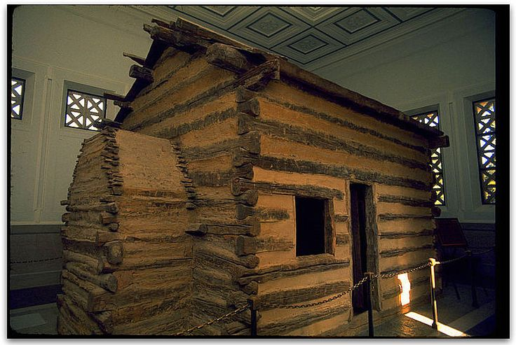 "Photo: Abraham Lincoln Birthplace National Historic Site. Credit: National Park Service; Wikimedia Commons. Read more on the GenealogyBank blog: ""There's No Place Like Home – a Log Cabin Home"" https://blog.genealogybank.com/theres-no-place-like-home-a-log-cabin-home.html"