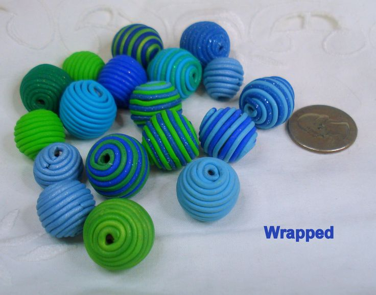Multilisting! handmade, polymer clay, beads, artistic jewelry craft, wrapped, hollows, flash, miracle, deep seas, by 1000and1 on Etsy