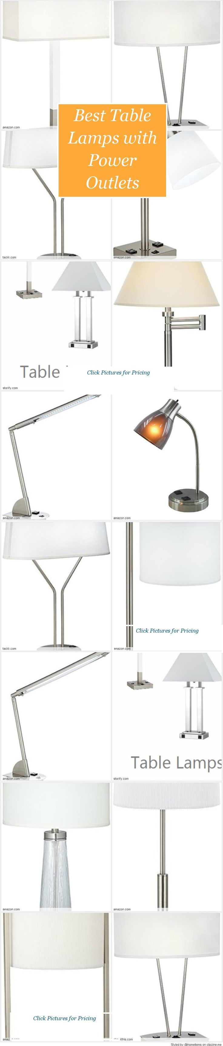 23 best table lamps with power outlets images on pinterest table best table lamps with power outlets top rated reviews geotapseo Choice Image