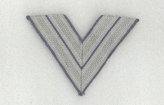 German WWII Luftwaffe Obergefreiter Rank Chevron by Vintageroom24h