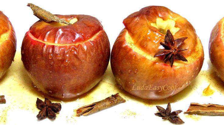Запеченные яблоки с корицей. Простой и полезный десерт [LudaEasyCook]