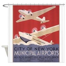 New York Airport Shower Curtain on CafePress