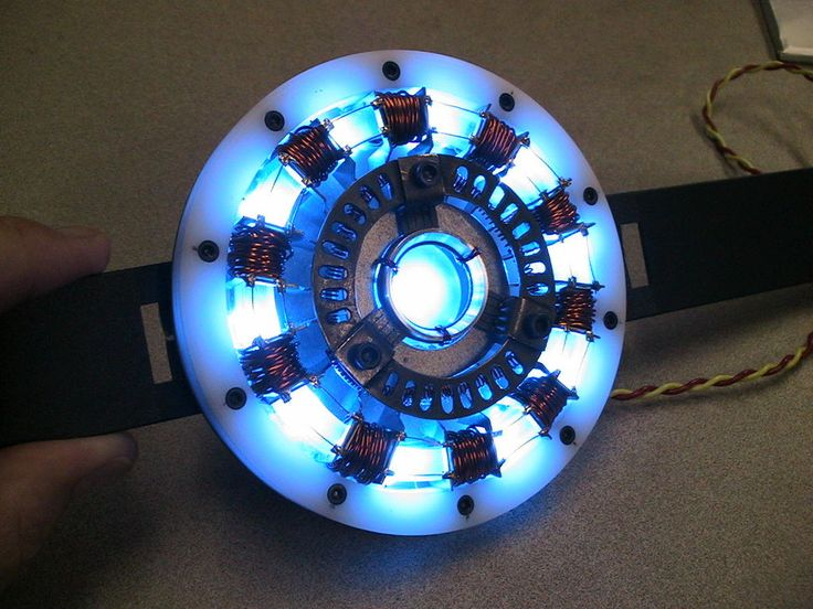 Make your own Iron Man arc reactor. Just might do this one day...You could be Tony Stark for Halloween