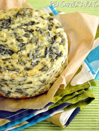 Spinach & Artichoke Dip Cheesecake #eatyourveggies