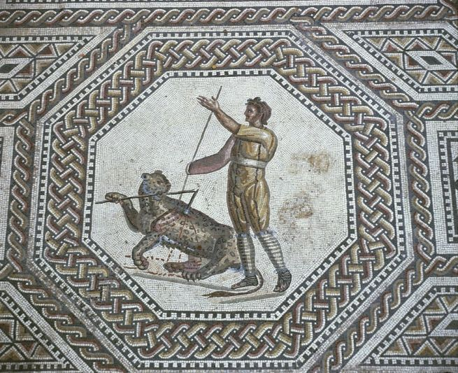 Gladiatori, mosaico in Germania