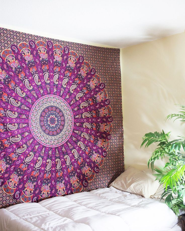Beautiful Purple Mandala Tapestry