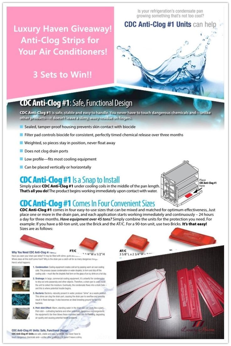 #Giveaway : 3 lucky followers of Luxury Haven will get to Win 1 Set of the CDC Anti-Clog Units for your #aircon, courtesy of Air Connection Design!