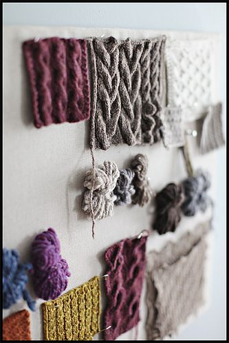 "Inspiration: ""Swatching for Fall"" 