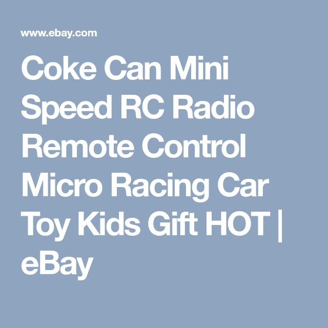 Coke Can Mini Speed RC Radio Remote Control Micro Racing Car Toy Kids Gift HOT | eBay