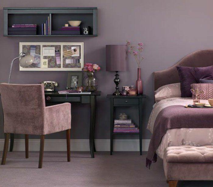 Beautiful Chambre A Coucher Mauve Et Noir Contemporary - Home ...