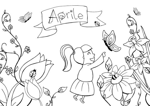 Free April Coloring Page
