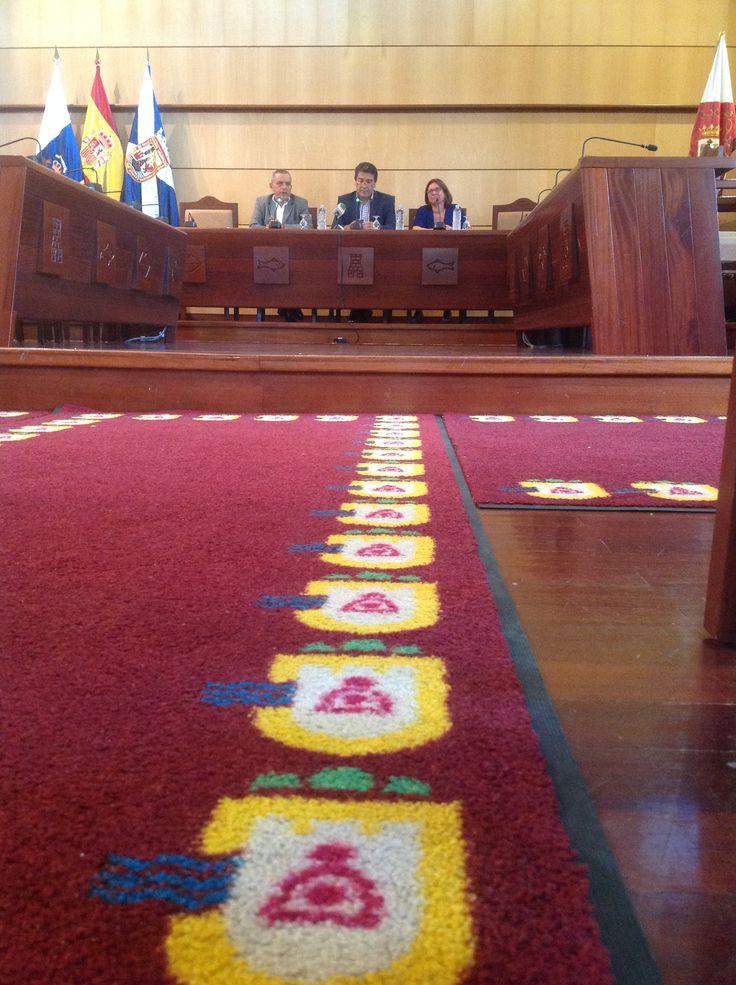 Rueda de prensa en el Ayuntamiento de Candelaria [[22 julio] para presentar la II Feria Insular de Artesanía en Candelaria (Tenerife, 1-3 agosto 2014)