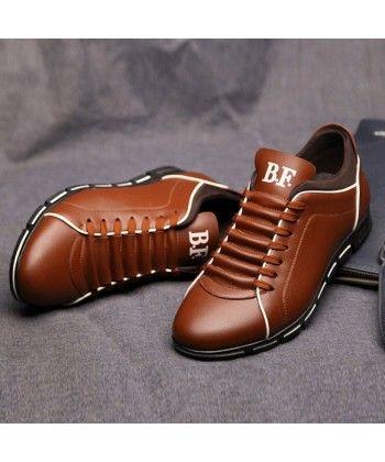 bdd7c6ba249 Sapatenis Social Masculino em Couro Marrom Calçados Elegante Sapato Casual