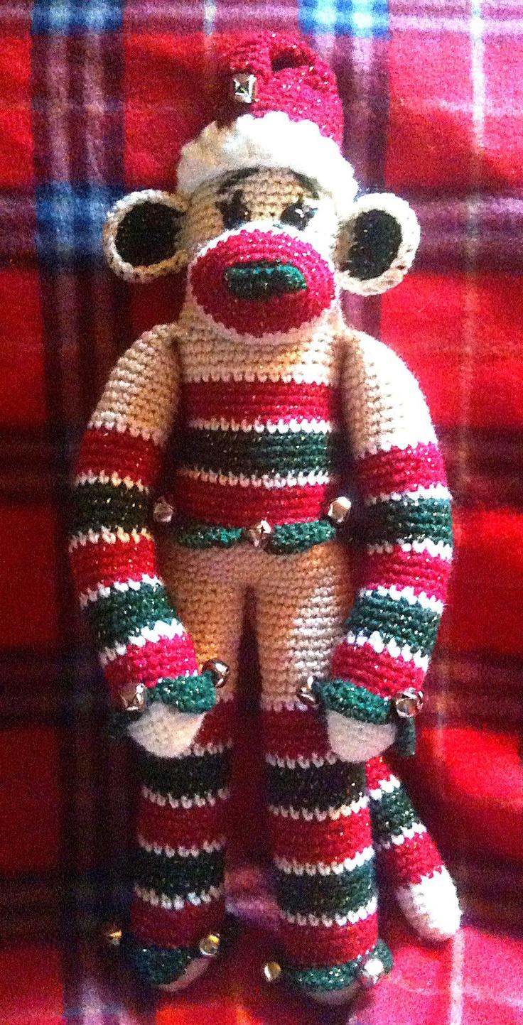 302 best crochet sock monkey items images on pinterest babys jingle jangle sock monkey crochet bankloansurffo Images