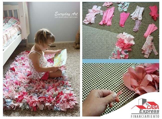 Usa tela de colores y una malla de pl stico para hacer un - Como hacer cuadros de tela ...