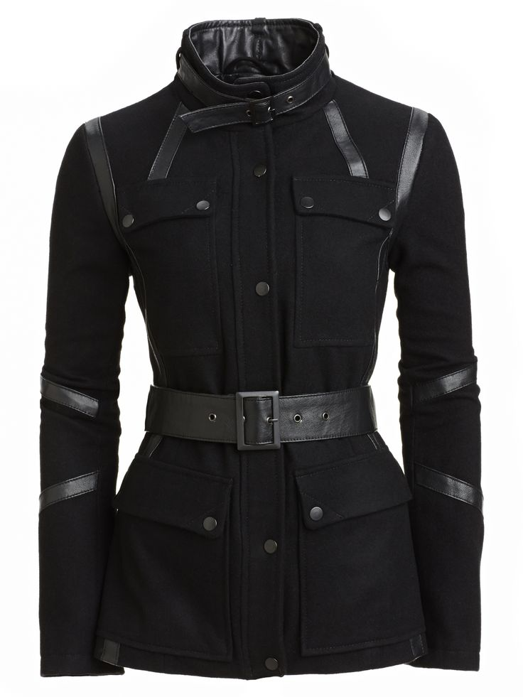 Cut // Danier leather accented coat