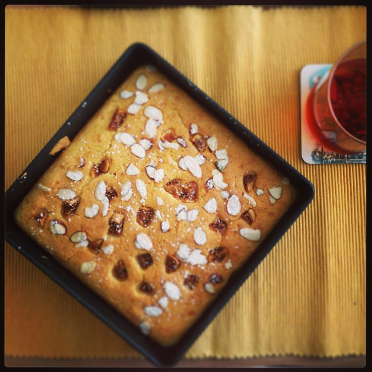 Fig breakfast cake-- adapted from Joy the Baker