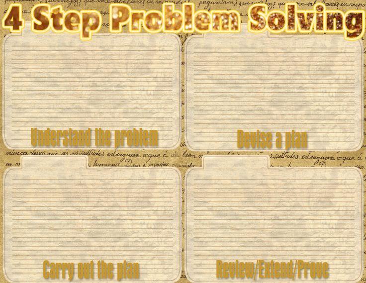 Reading Sage 4 Step Problem Solving Model Problem Solving Model Math Problem Solving Math Word Problems