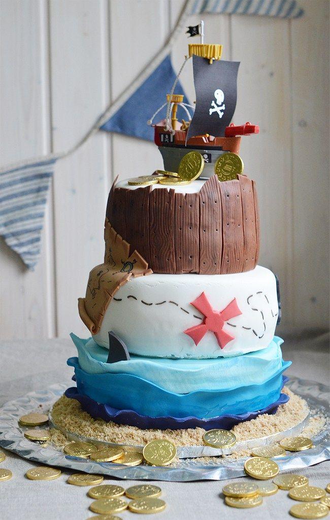 Tarta para un cumpleaños Pirata