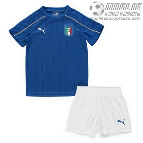 Home Maglia Calcio Bambini Italia Euro 2016  €15.5