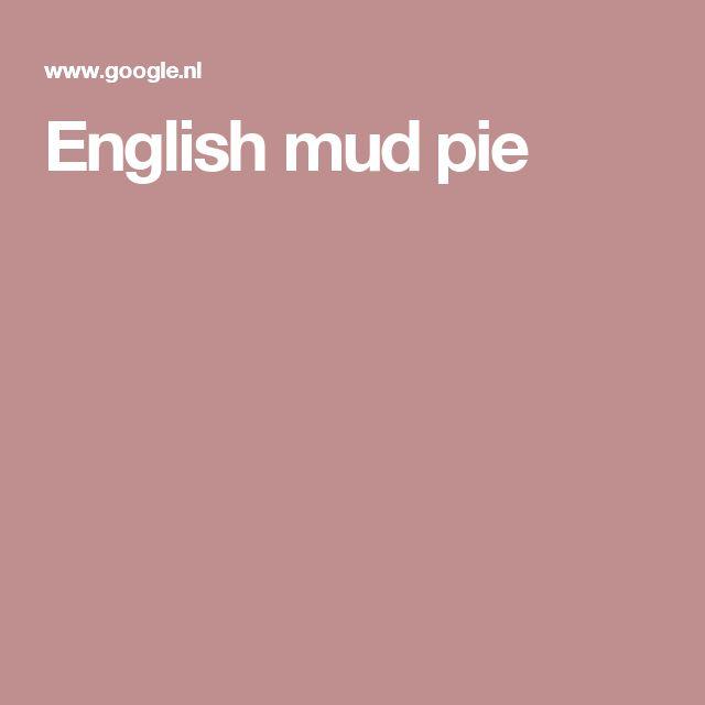 English mud pie