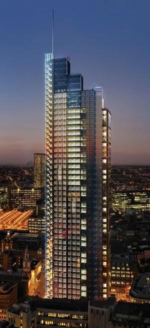 Heron Tower, London designed by Kohn Pedersen Fox Architects :: 46 floors, height 230m