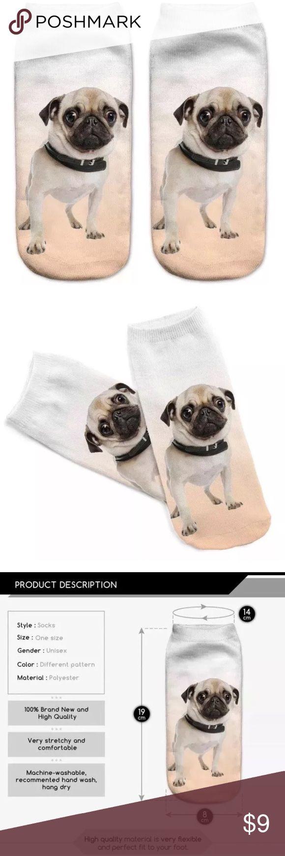 Pug Socks One size cute ankle pug socks BIN# AE Other
