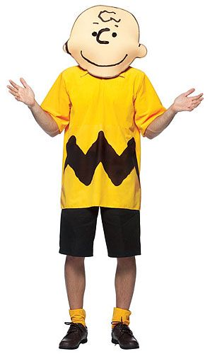 6356f2088 Charlie Brown Costume Printed ShirtShortsOversize Character MaskBecome the  hilarious Peanuts character Charlie Brown this Halloween in this licensed  cos