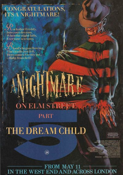 A Nightmare on Elm Street 5: The Dream Child | Haha what can i say about this apart from its pretty ridiculous but makes me laugh.