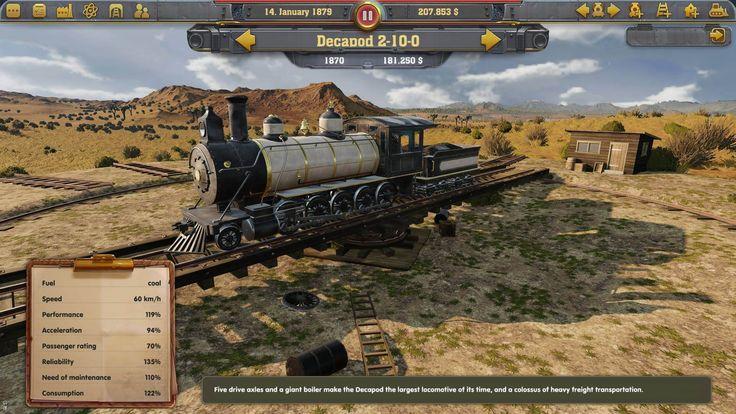 Railway Empire PC es un juego de simulación y juego de trenes que le permite controlar su propia compañía ferroviaria, ya que la industria ferroviaria está creciendo a un ritmo vertiginoso. A cargo de establecer las vías y crear nuevas rutas en todo Estados Unidos...