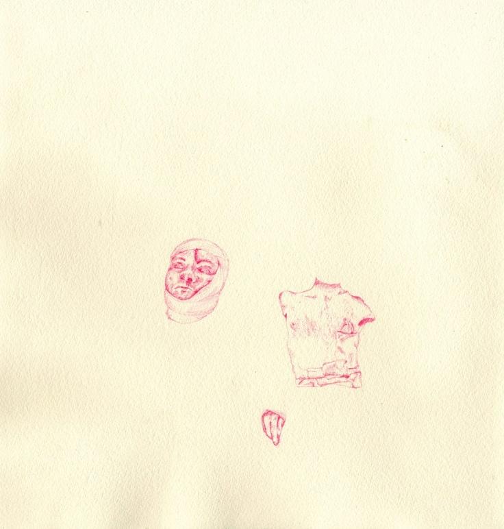 War hero I, Colouring pencil on paper, Eleanor Phillips, 2013