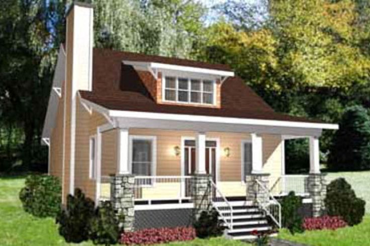 Bungalow Style House Plan - 3 Beds 2 Baths 1460 Sq/Ft Plan #79-206 Exterior - Front Elevation - Houseplans.com