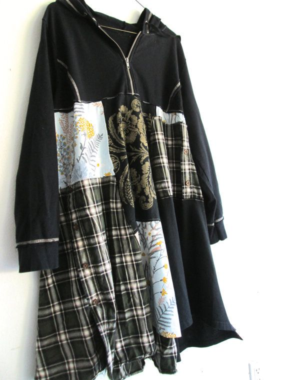 upcycled Hoodie Dress / romantic Upcycled clothing / by CreoleSha