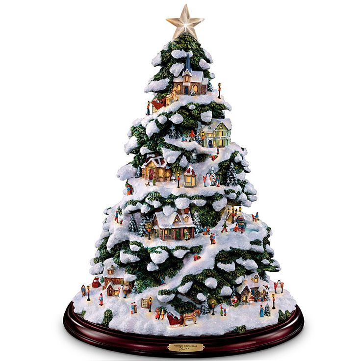 Amazon Com Thomas Kinkade Village Christmas Artificial