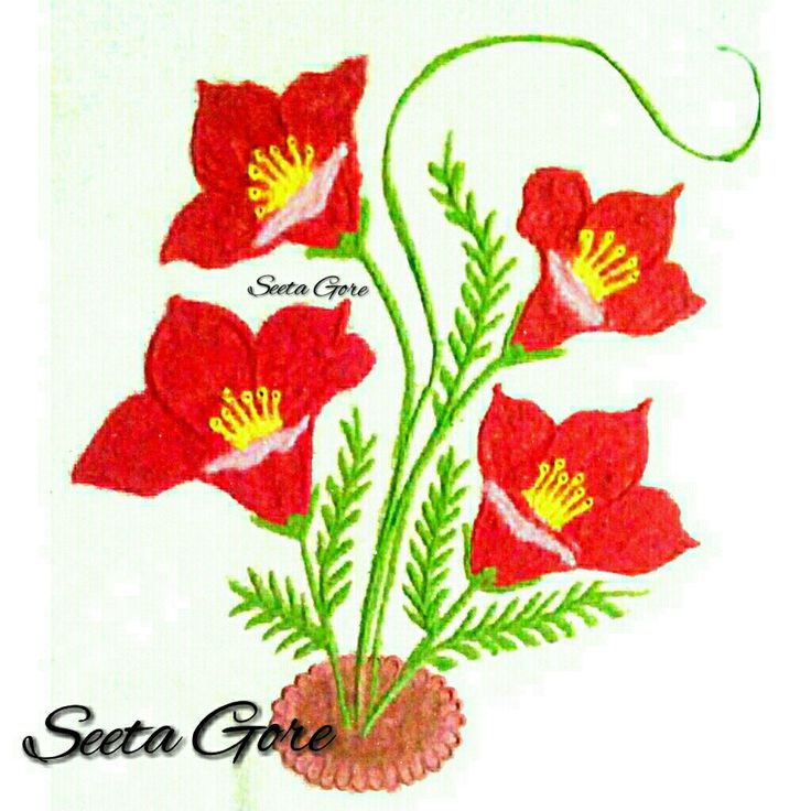 My rangoli...my art... Simple flower rangoli...111